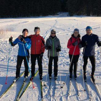 Nordic Abteilung im Winter aktiv