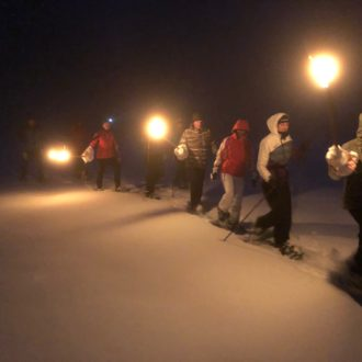 Schneeschuh-Wanderung am Rennsteig