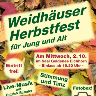 Auf zum Weidhäuser Herbstfest!